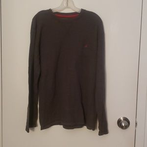 Nautica sleepwear long sleeve top in large